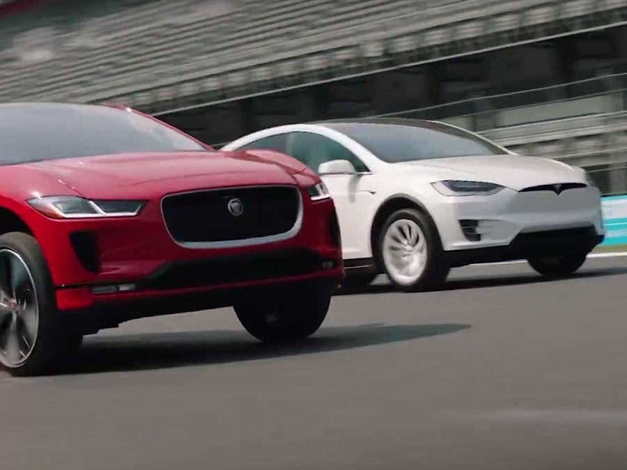 《影片》Jaguar I-Pace單挑Tesla Model X!