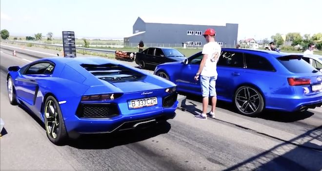 旅行戰艦 Audi RS6 Avant遇上狂牛 Lamborghini Aventador?