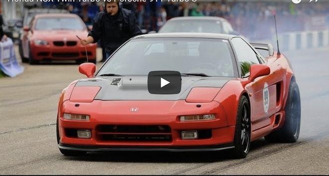 爆改「雙螺仔」的初代 Honda NSX有沒有足夠的本事戰勝Porsche 911 Turbo S?