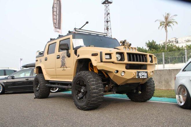 OP頑車聚-美式改裝組選美冠軍-悍馬H2軍事塗裝