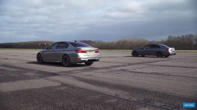 王對王 BMW M5 vs. Mercedes-AMG E63 S直線對戰 精彩啊!!!