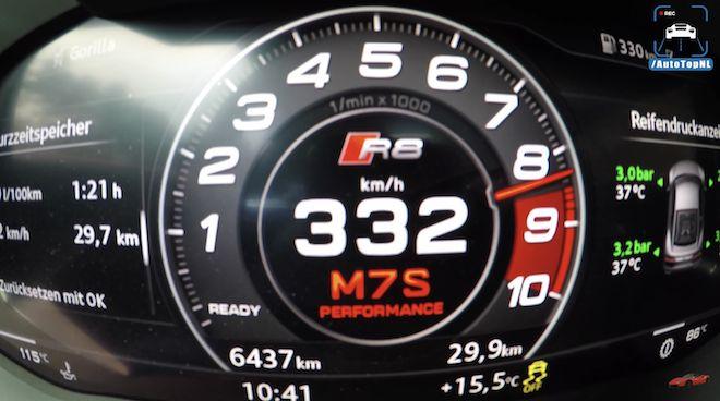 「令人屏息的傳奇10缸引擎」見識Audi R8 V10 Plus如何突破時速333km/h大關!