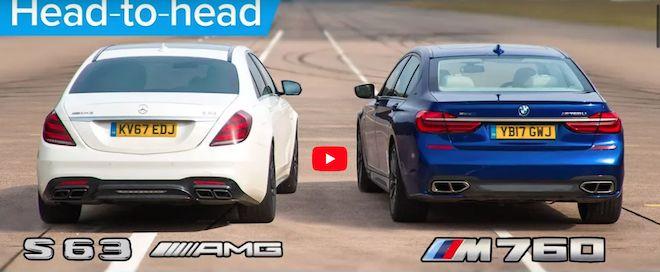 「最速豪華房車」M760Li xDrive 的V12雙渦輪引擎對上縮缸的Mercedes-AMG S63 V8引擎!