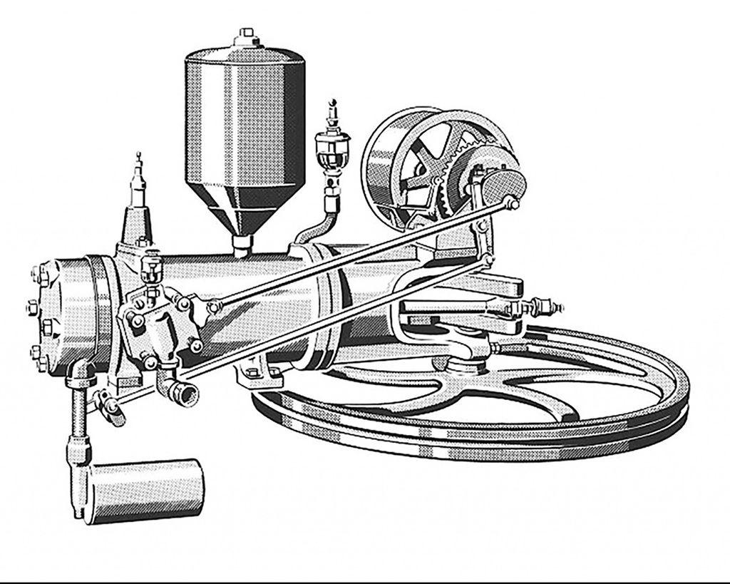 【直列vs.水平對臥引擎】世界最早的汽油引擎 是水平汽缸而不是直式汽缸!(7-3)