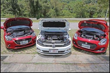 進口小車攻防戰(3/3)-動力操控篇及大結論VW Polo vs. Mazda 2 vs. Suzuki Swift