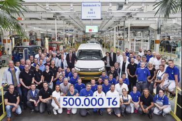 T6 Transporter車系第50萬輛於六月出廠