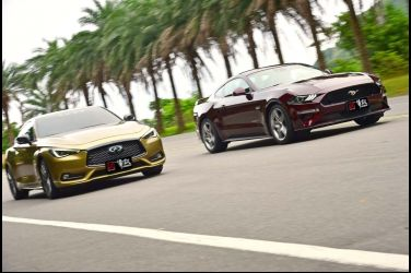 野性與感性的競逐(上)Ford Mustang 5.0 GT vs. Infiniti Q60 3.0t Red Sport