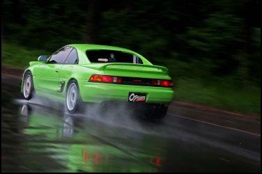 Toyota MR2總動員(2)二代MR2青蛙在雨中快閃200hp的銀頭3S-GE