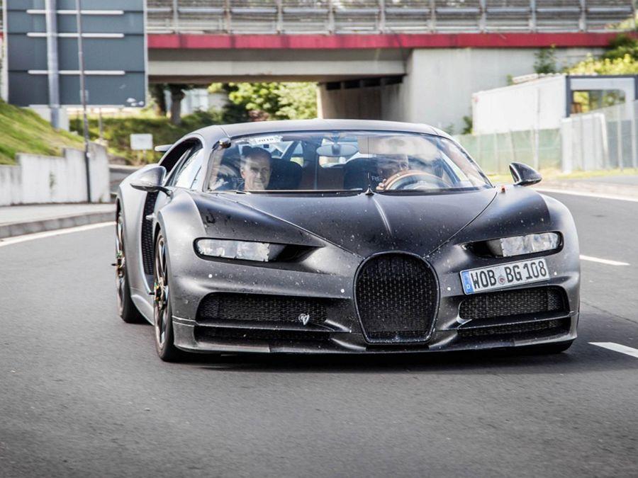 Bugatti將有新彩蛋?Chiron偽裝車在紐柏林北環賽道測試