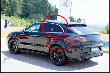 假的 眼睛業障重 !!  Porsche Cayenne真的要出斜背的Coupe車型!!