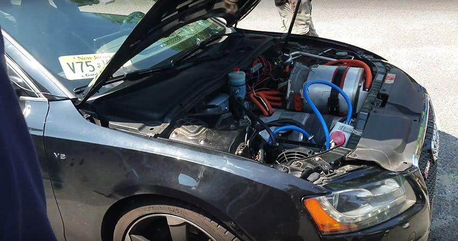 不滿意Audi S5動力?直接換Tesla電動馬達!(內有影片)