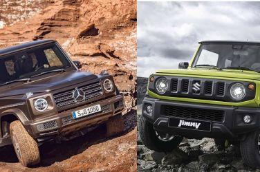 Baby G親子丼Suzuki Jimny Sierra與Mercedes-Benz G 500的超級比一比