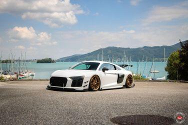 Audi R8換上黃金腳  玩起流行的Stance文化