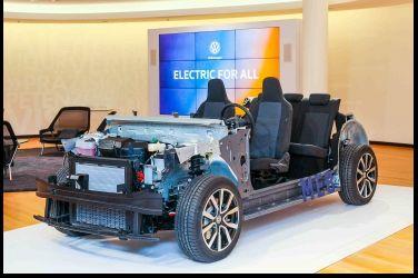 不混了,直接電化 Volkswagen MEB模組化矩陣底盤亮相