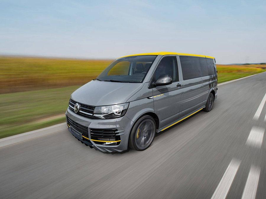由Carlex Design操刀的這輛VW T6看起來就像從金屬樂唱片駛出來的車款呢!