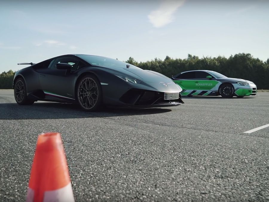 沒引擎的Audi RS3海放超跑!藍寶堅尼都被慘電!(內有影片)
