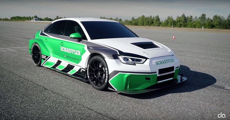 倒車也能跑贏 Porshce 911 GT2 RS!沒引擎的Audi RS3又來了