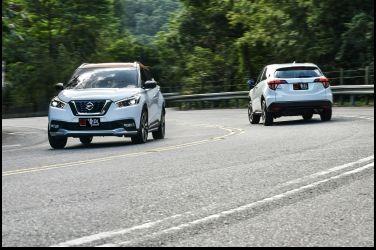 踩界  Nissan Kicks vs. Honda HR-V(三、動態篇)