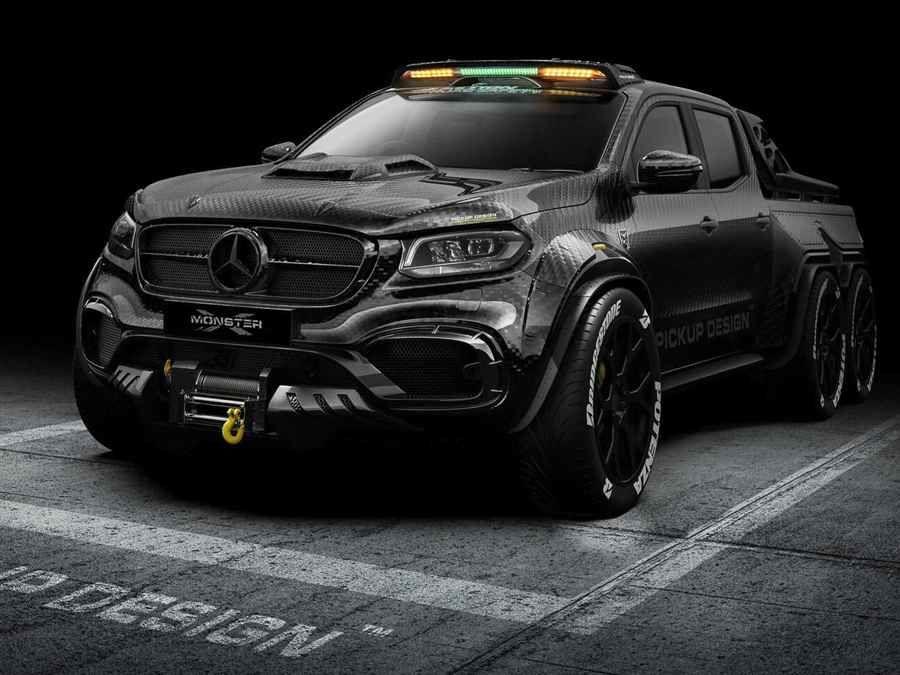 6輪Mercedes-Benz X-Class感覺上就像輪型裝甲車啊