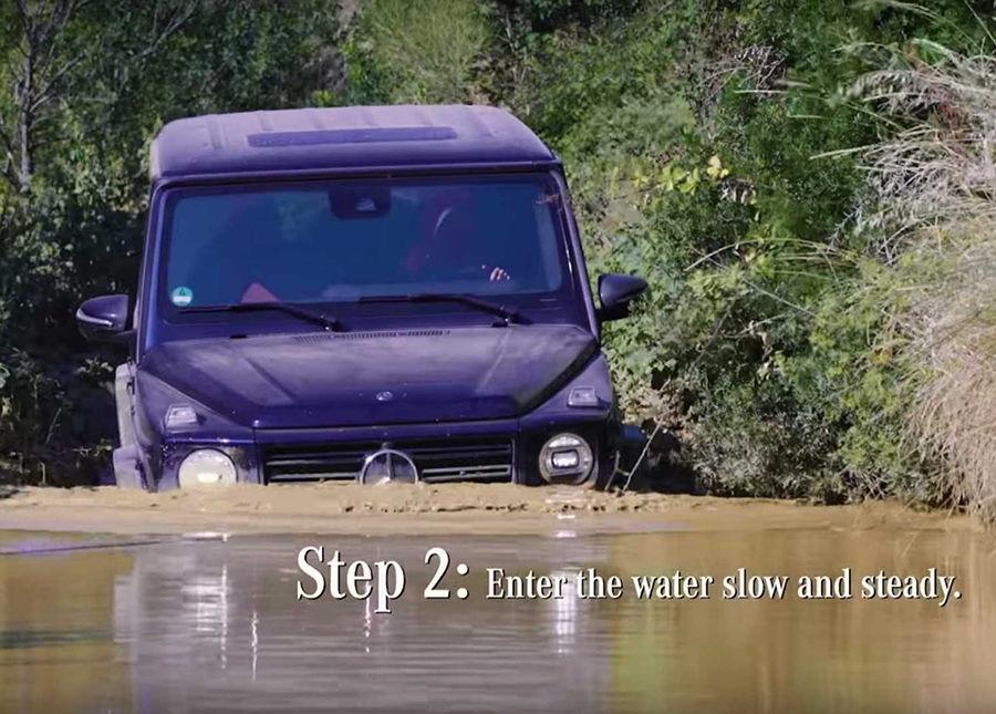 玩水囉!用M.Benz G-Class教你如何涉水(影片)