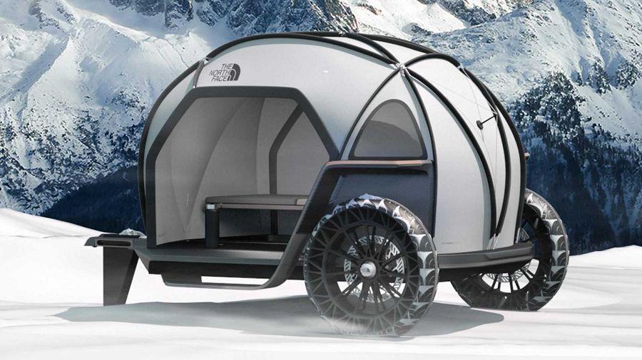 BMW聯名The North Face做出了寒帶蒙古包露營車