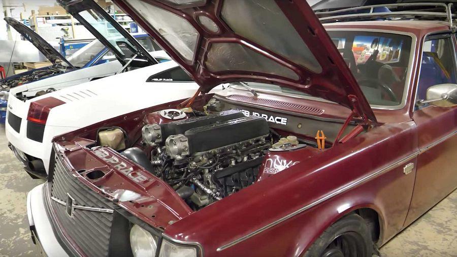 換了2JZ引擎之後,一位Volvo的車主想改換裝Lamborghini的V10引擎