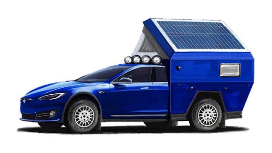 Tesla Models竟搖身一變成為「Roamer」電動露營車?