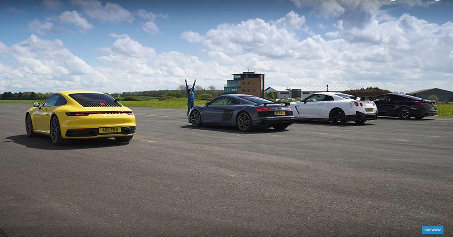 影/Porsche 911與Nissan GT-R尬直線?BMW M850i也參一腳!