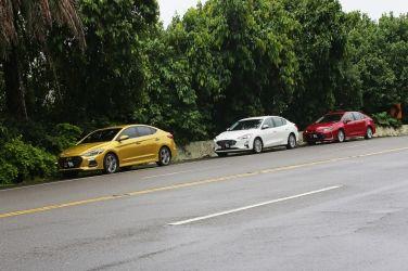 國產四門主流對抗賽(下)  Toyota Corolla Altis vs. Ford Focus 4D vs. Hyundai Elantra Sport