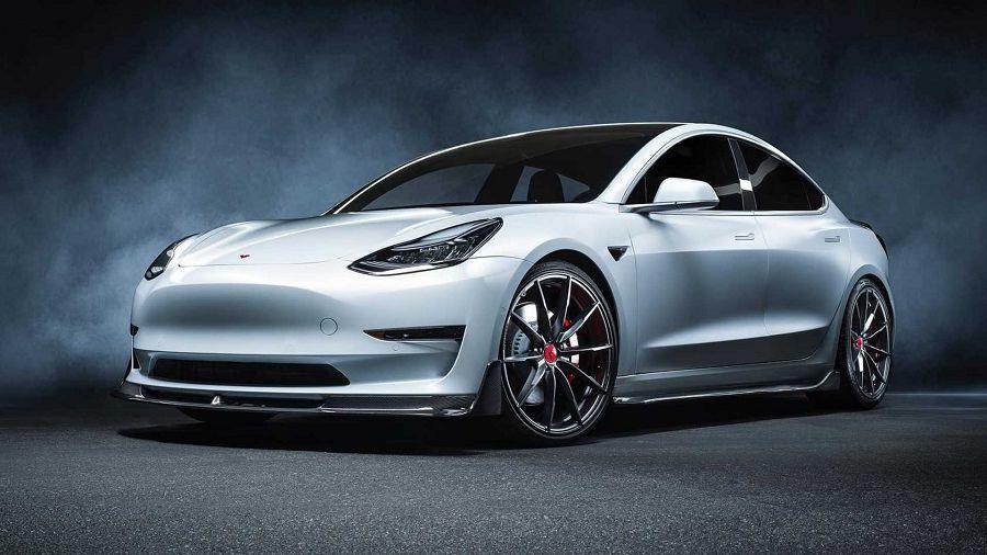 Vorsteiner使Tesla Model 3搖身一變成為兇悍的電動房車