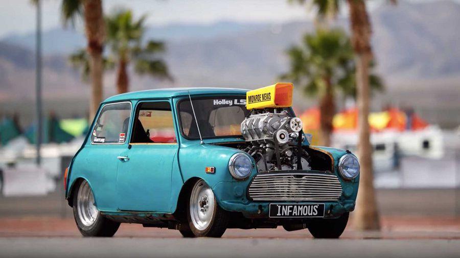 Mini Cooper異種移植LS引擎,600HP讓你玩得不亦樂乎