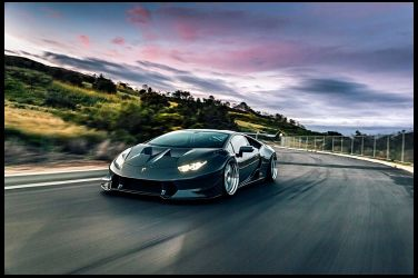 漫遊洛杉磯街道的浪漫  Lamborghini Huracan Twin Turbo !!