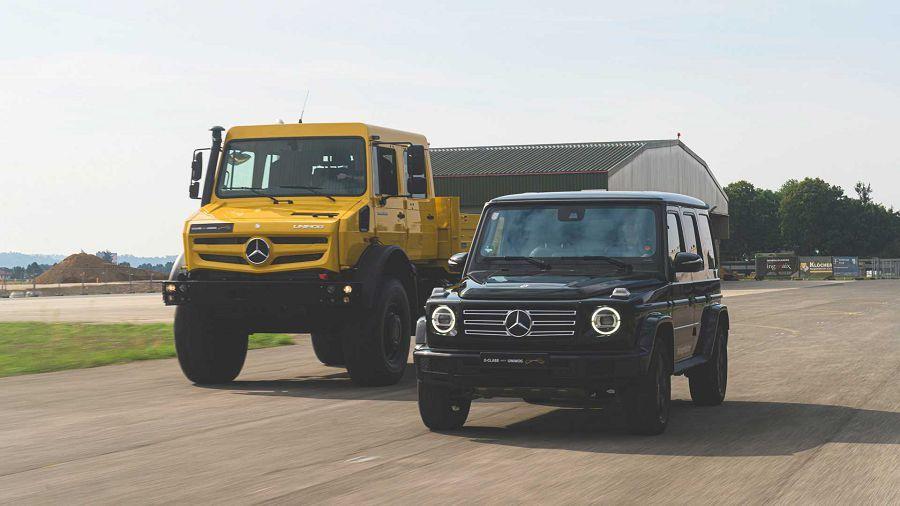 Mercedes Unimog和G-Class共同演示什麼叫做越野