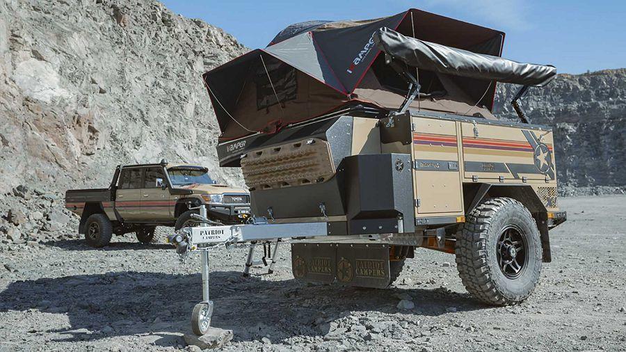 如同軍車般的露營拖車擁有難以想像的承載能力和多功能性