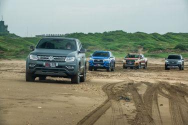 玩沙就靠它!皮卡皮卡! (中) Toyota Hilux + Ford Ranger + VW Amarok + SsangYong Rexton Sports !
