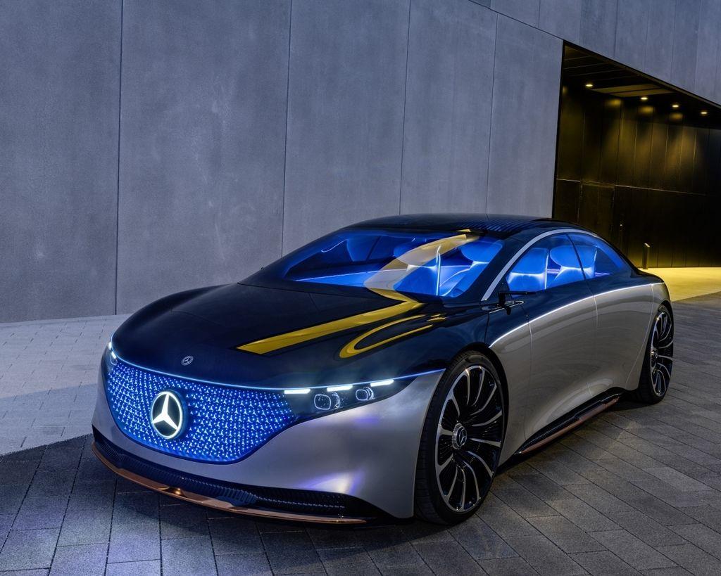 純電動陸地遊艇 Mercedes-Benz Vision EQS Concept !