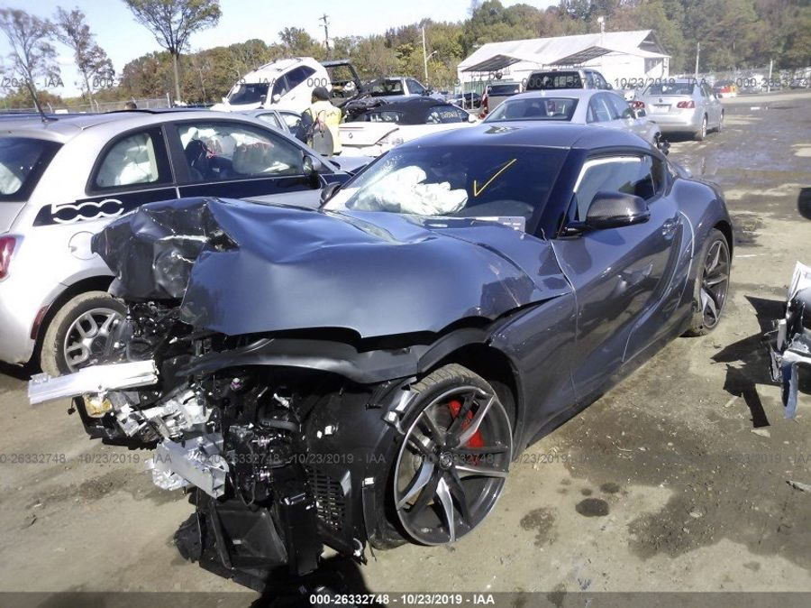 影/致命的一腳!Toyota Supra就這樣報廢了