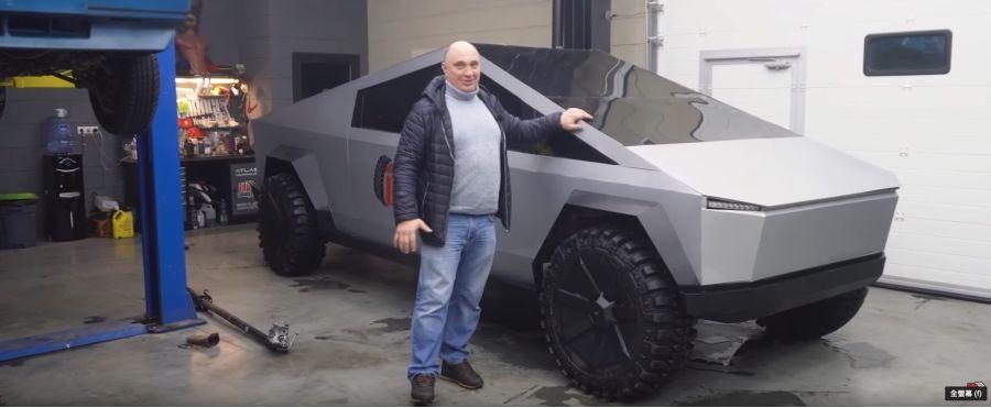 影/俄羅斯山寨Tesla Cybertruck要跟Porsche Cayenne拔河!