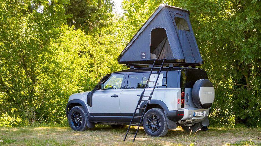 想要舒服地在戶外休息?2020 Land Rover Defender可裝備車頂帳篷喔!
