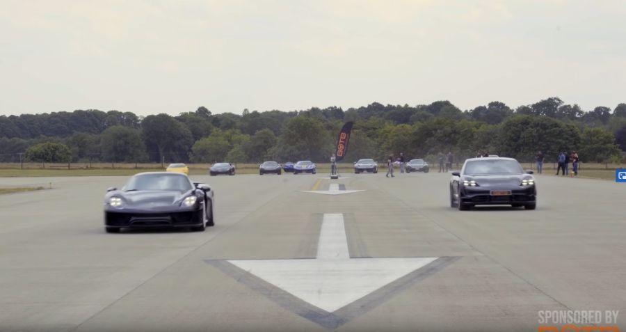 影/Porsche Taycan Turbo S單挑918 Spyder!後輩要篡位了?