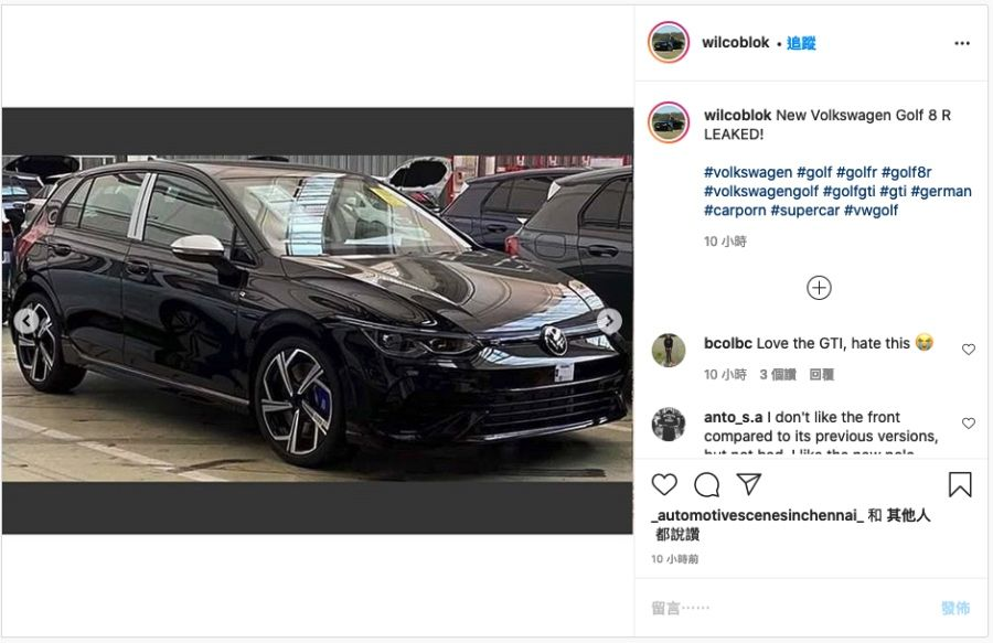 2021 VW Golf R搶先曝光!馬力將增至333匹?