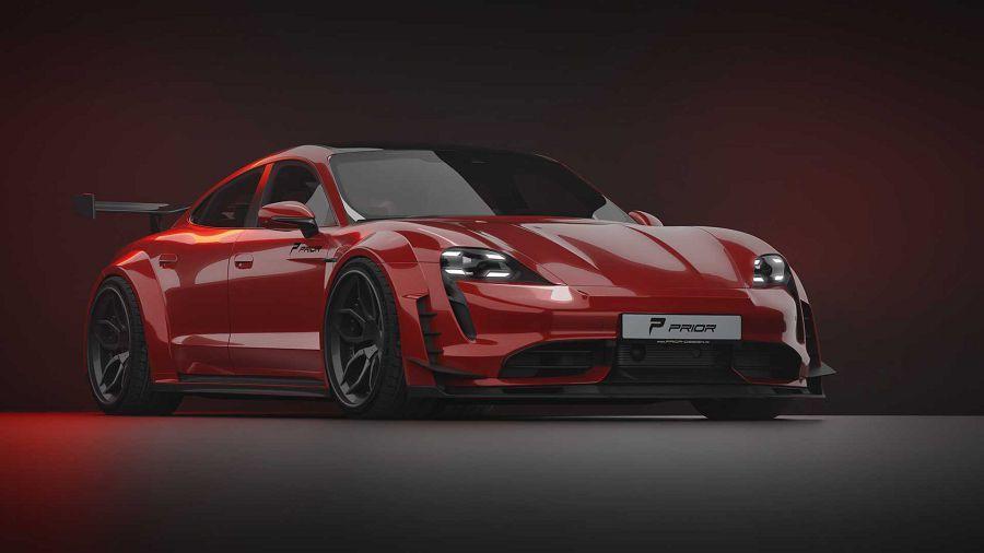 Prior Design給Porsche Taycan一副狂野寬體外觀