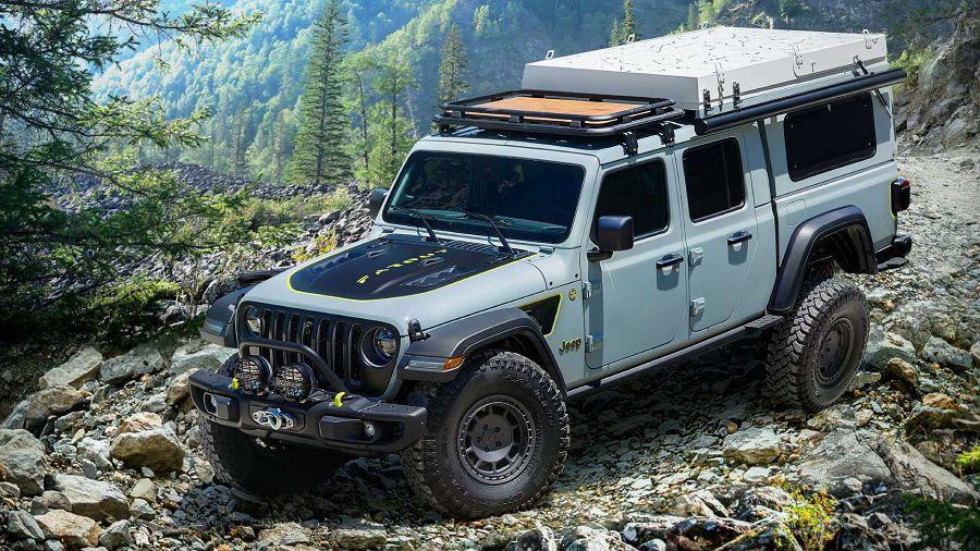 Jeep以Gladiator Farout概念車示範了最新的露營改裝玩法