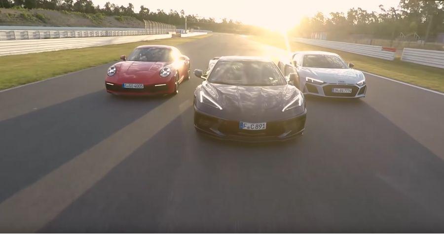 影/Corvette C8美國親民超跑賽道挑戰Audi R8+Porsche 911