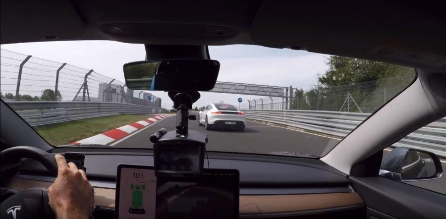 影/Tesla Model 3頂規 Vs 入門Porsche Taycan跑紐柏林會差多少?