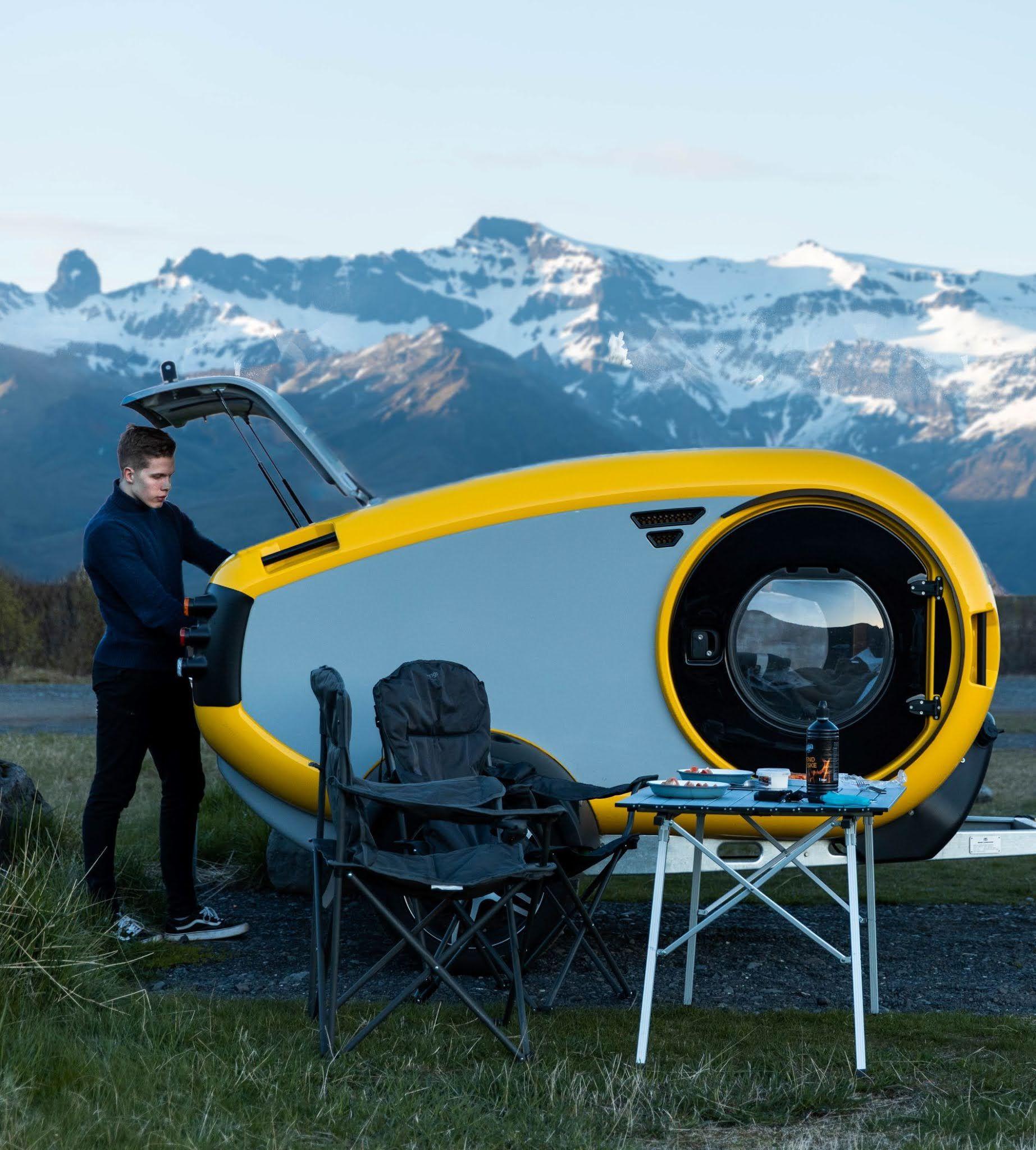 超可愛北歐露營小拖車 Mink 2.0 Sports Camper