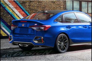 下一代Civic的性能車型「Si」裝備尾翼+巨大排氣管!公佈預測外觀圖