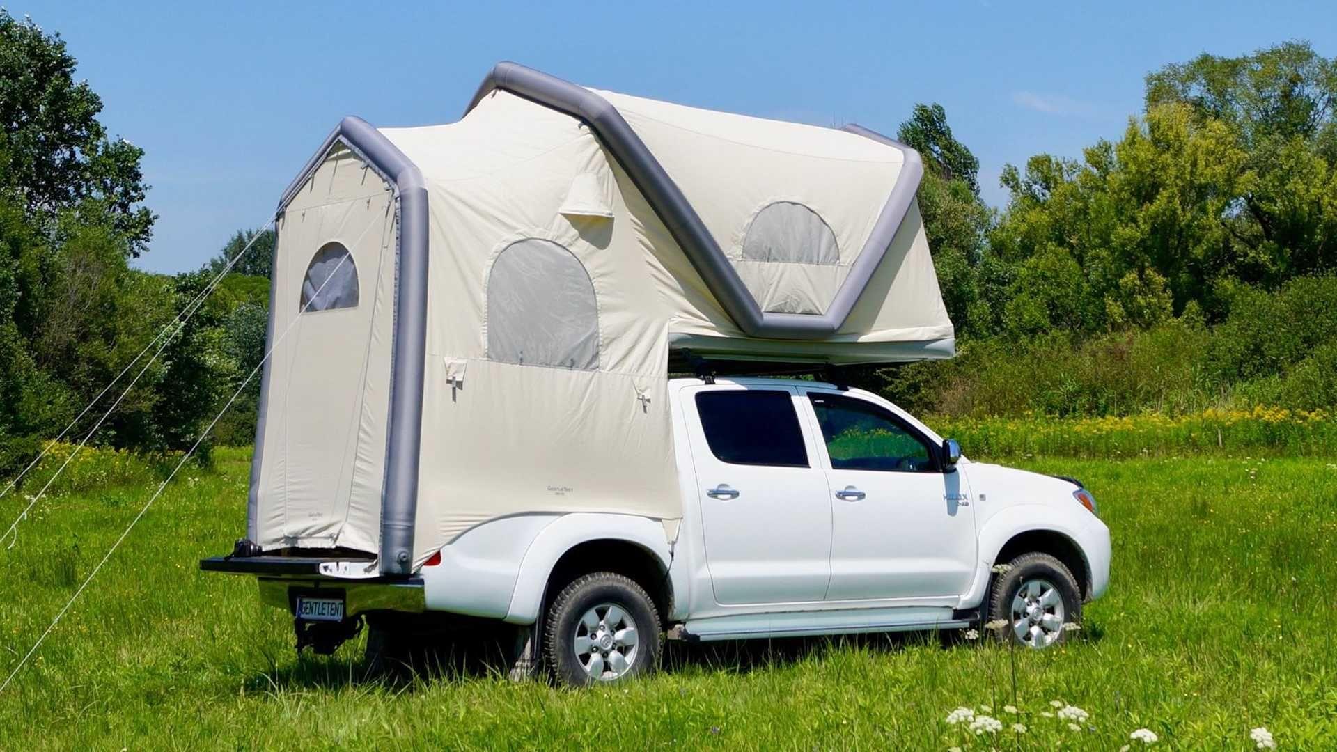 充氣式結構讓「GT Pickup」車頂帳篷提供了令人驚豔的寬敞生活空間