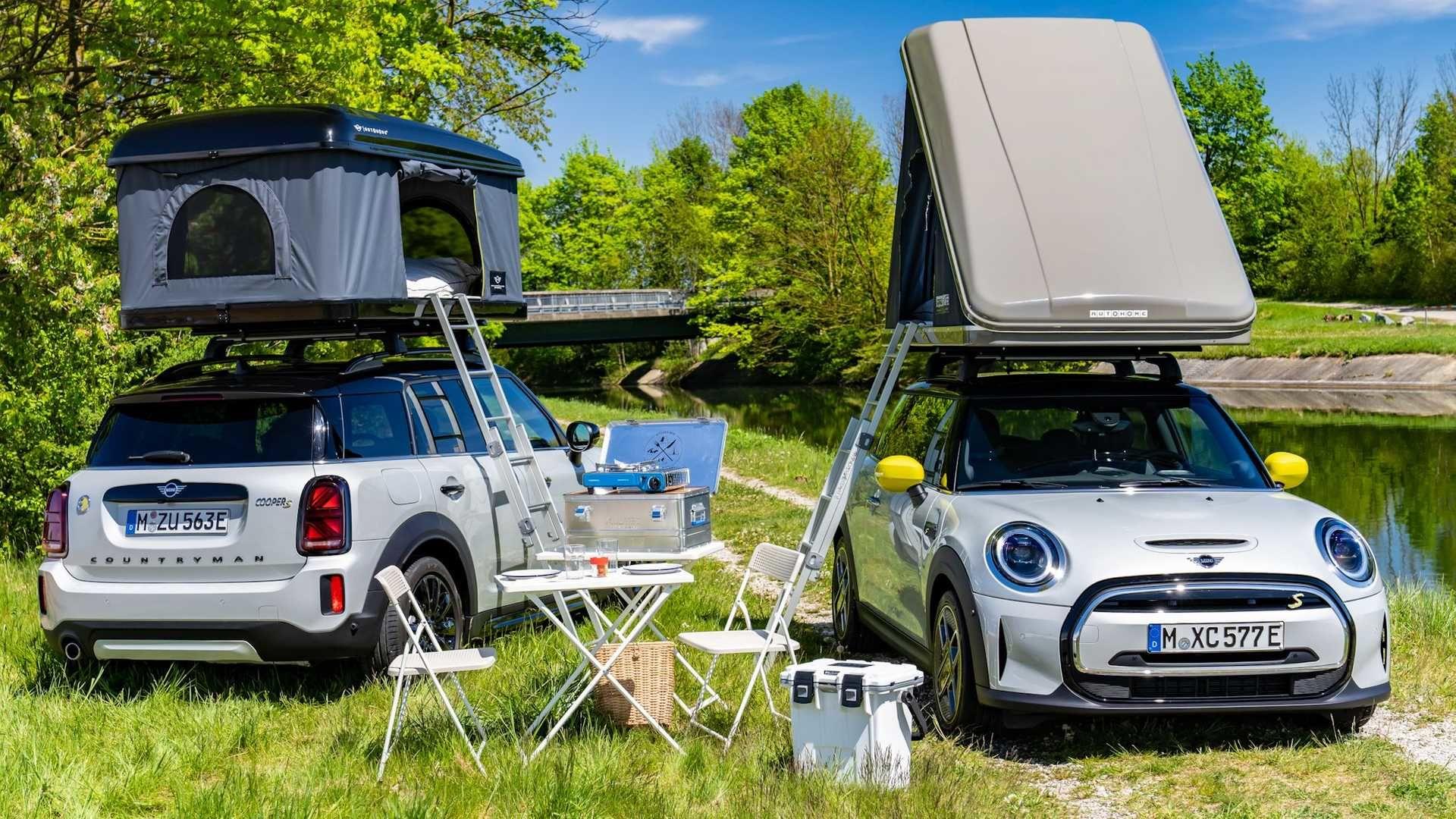 Mini Cooper SE 和 Countryman All4 Hybrid 擁有官方專屬車頂式帳棚