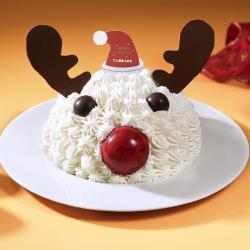 【亞尼克】 聖誕限定-紅鼻鹿鹿6吋蛋糕+糖霜餅乾四入